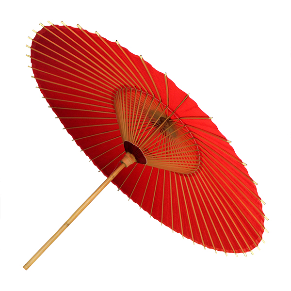 Hokusai Umbrella Red